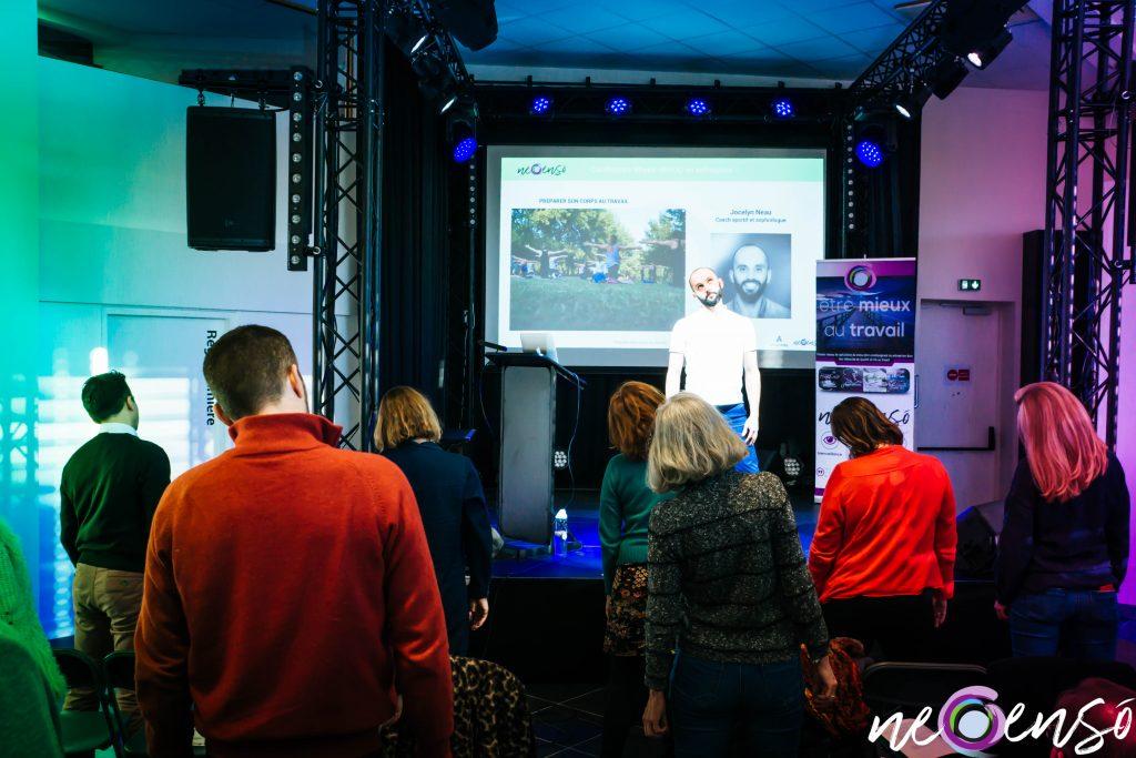 """Une conférence - action, les participants ont tester en """"live"""" les recommandations de notre expert"""