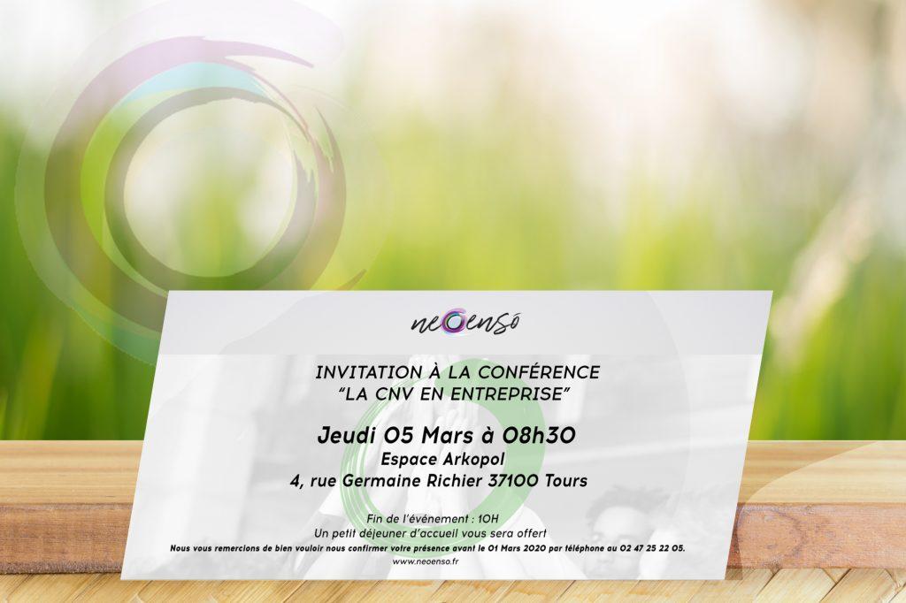 """Invitation à la conférence 'La CNV en Entreprise"""""""